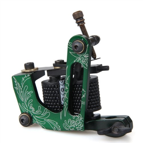10x green professional rotary tattoo machine gun for liner for Tattoo machine coil covers