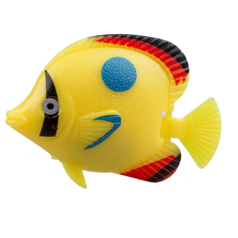 5 pieces mini floating plastic fish aquarium ornament sh for Small plastic fish