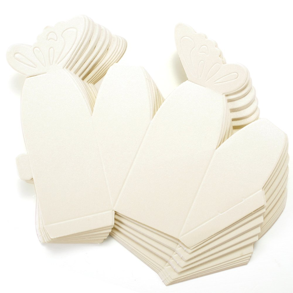 50 Pcs Butterfly Favor Gift Candy Boxes Cake Style For