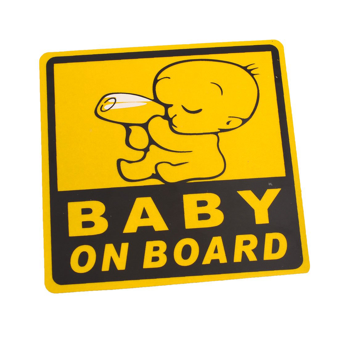 car exterior baby on board safety sign sticker decal 11cm x 11cm cp. Black Bedroom Furniture Sets. Home Design Ideas