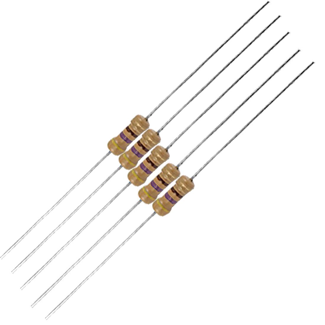 1000 Pcs 1 4w 250v 470 Ohm 4 Bands Carbon Film Resistors
