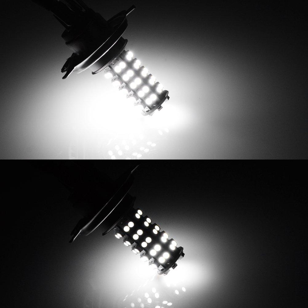 2stk h4 68 smd led 6000k kopf licht scheinwerfer birne lampe tagfahrlicht gy ebay. Black Bedroom Furniture Sets. Home Design Ideas