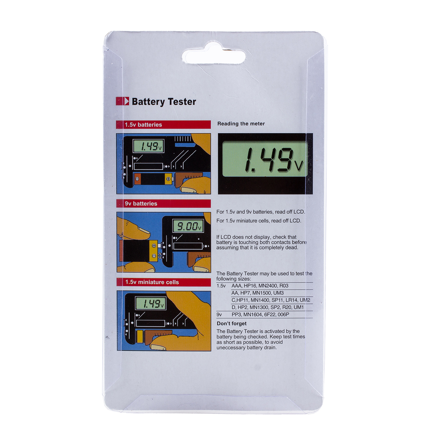 9 Volt Battery Tester : New uk battery tester volt checker for v and aa aaa