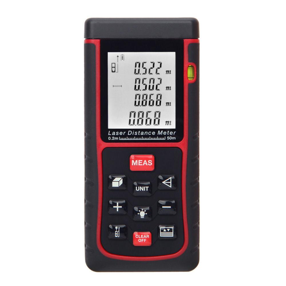 50m 164ft digital laser distance meter measure distance kl ebay - Laser mesure distance ...
