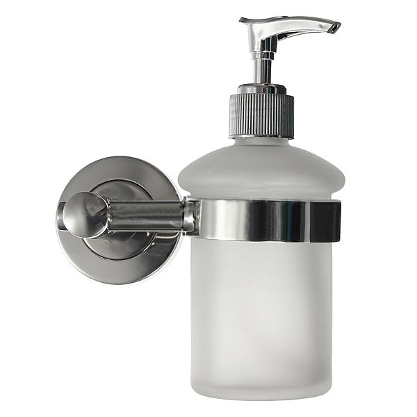 Wall mount bathroom frosted glass shampoo liquid soap for Liquid soap dispenser for bathroom