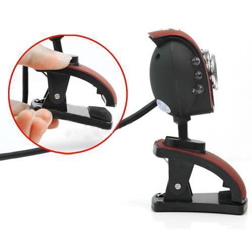 usb 50m 6 leds vision nocturne webcam avec micro pour pc. Black Bedroom Furniture Sets. Home Design Ideas