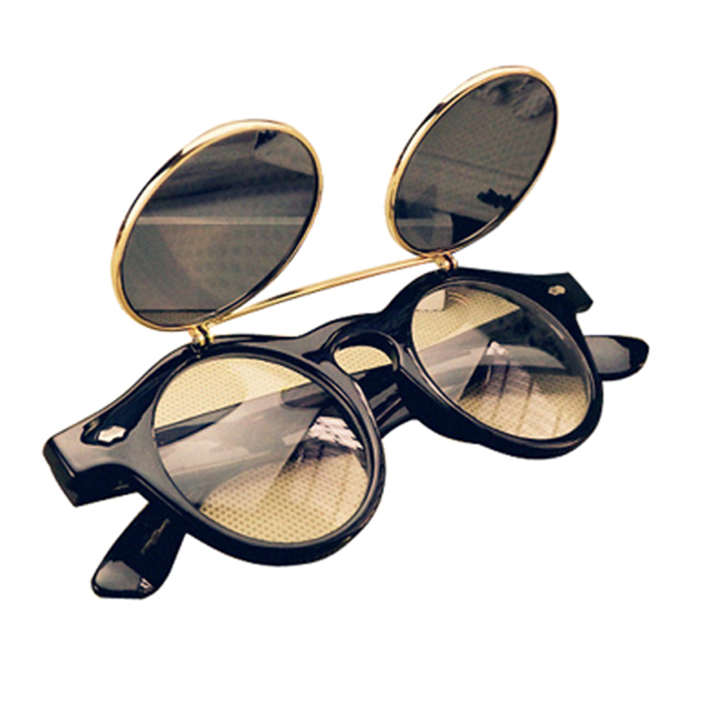 m9 unisex steampunk goth goggles glaeser retro flip up. Black Bedroom Furniture Sets. Home Design Ideas