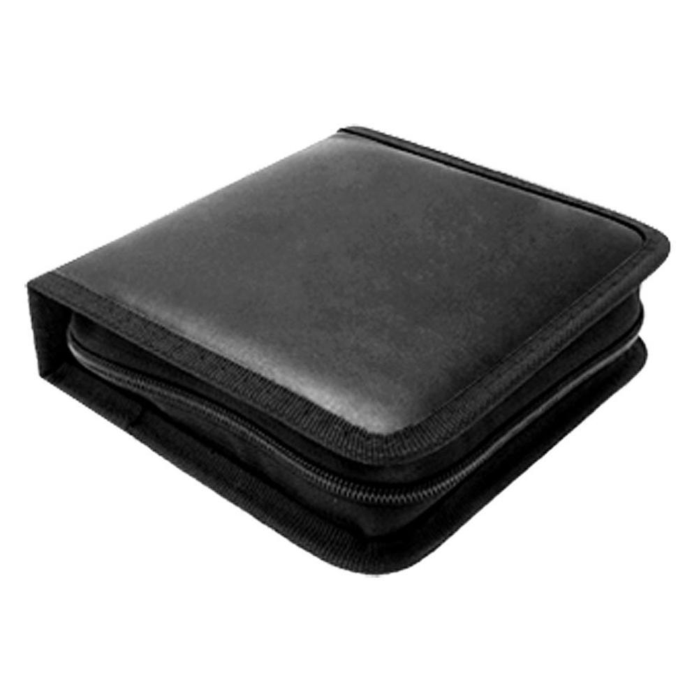Portable rectangle cd carrying storage case bag holder black ed - Porta cd design ...
