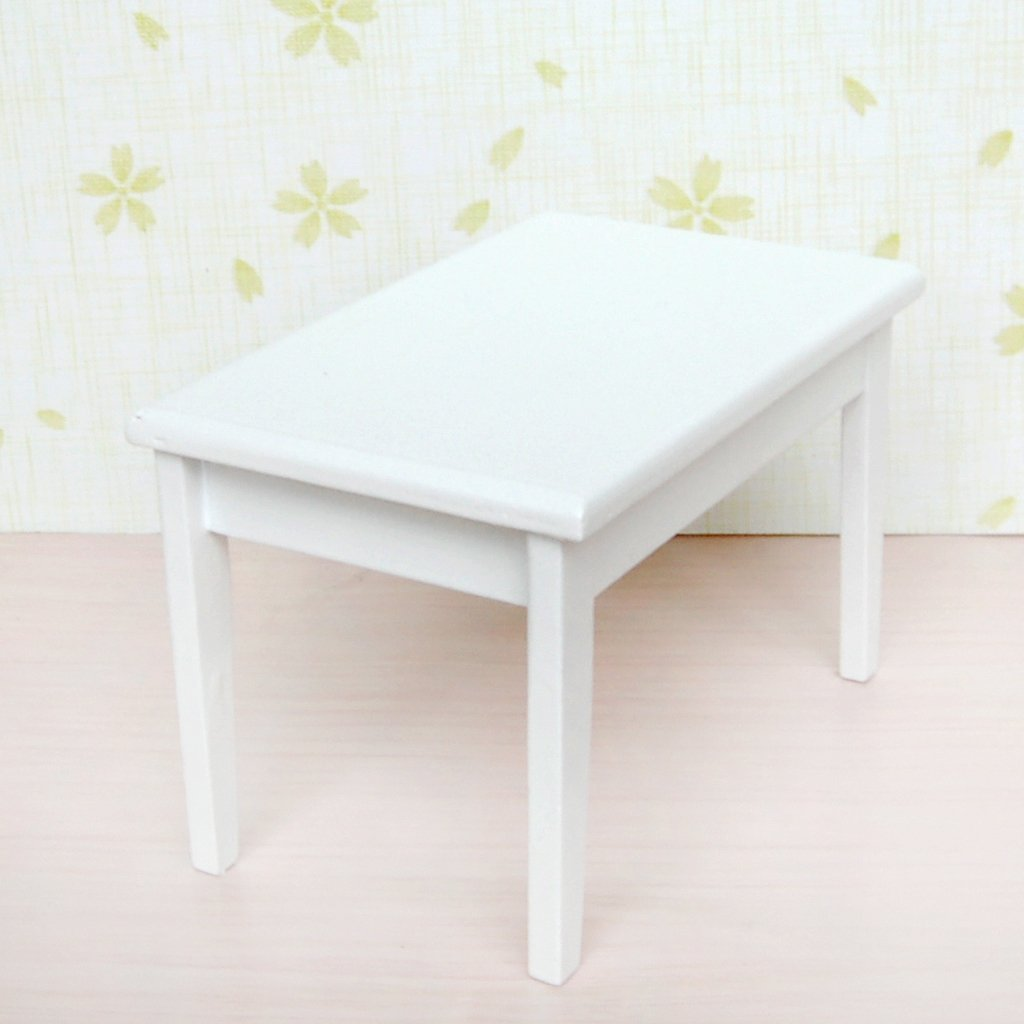 S3 5 piece model table chair a manger set furniture doll house miniature whit - Ensemble table a manger ...