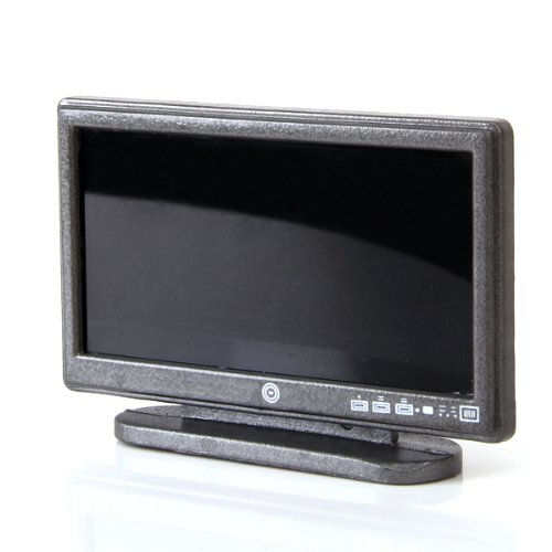 puppenhaus miniatur breitbild fernseher flat panel lcd tv w remote grau gy ebay. Black Bedroom Furniture Sets. Home Design Ideas