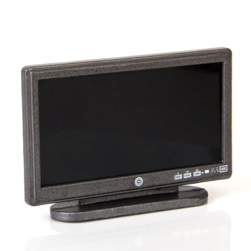 Dollhouse Miniatures Tv: Dollhouse Miniature Widescreen Flat Panel LCD TV With