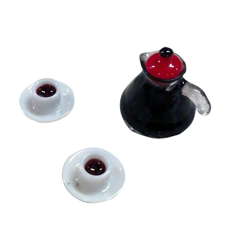 3 stk set kaffeekanne tasse mit untertasse puppenhaus - Puppenhaus beleuchtung set ...
