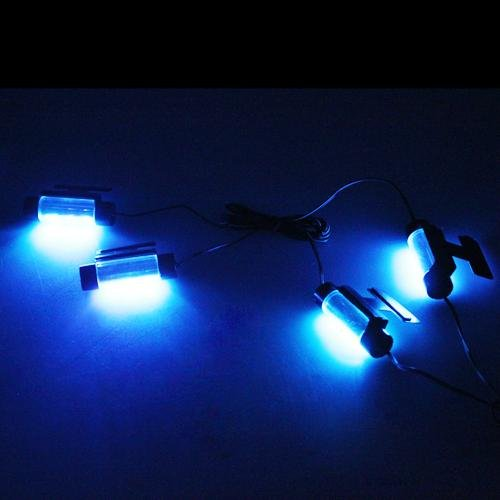 4 x 3 led neon eclairage lampe lumiere bleu dc 12v pour. Black Bedroom Furniture Sets. Home Design Ideas