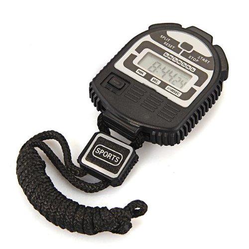 digital stoppuhr stop uhr watch timer messgeraet mit digital anzeige schwarz gy ebay. Black Bedroom Furniture Sets. Home Design Ideas