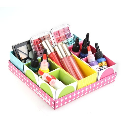 make up organizer papier storage box kosmetik aufbewahrung. Black Bedroom Furniture Sets. Home Design Ideas
