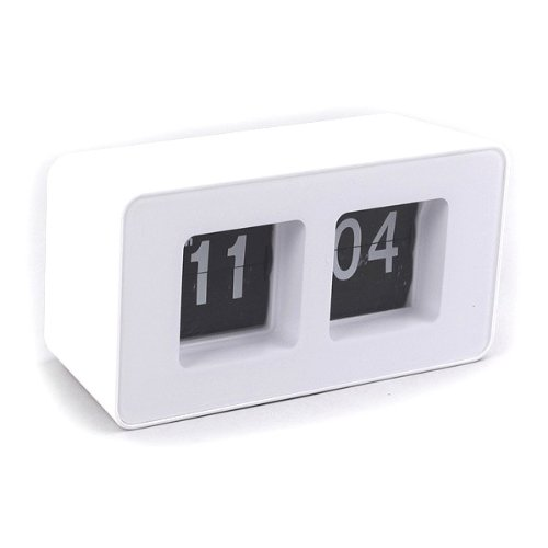 Flip flap clock white desktop clock ct ebay White flip clock