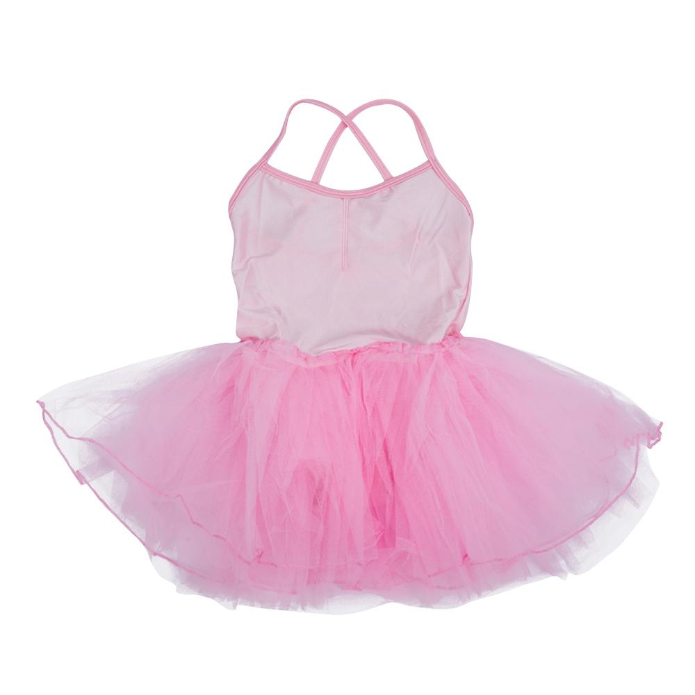 25S8 Girls Fairy Dress Ballet Tutu Leotard 5-6T - Light Pink