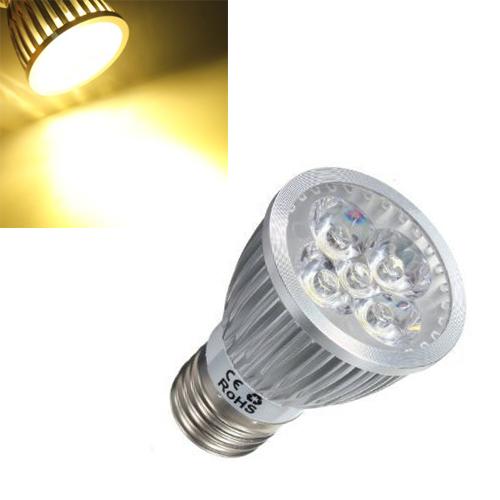 E27 5w 5led ampoule lampe blanc chaud lumiere maison spot for Lampe a led maison