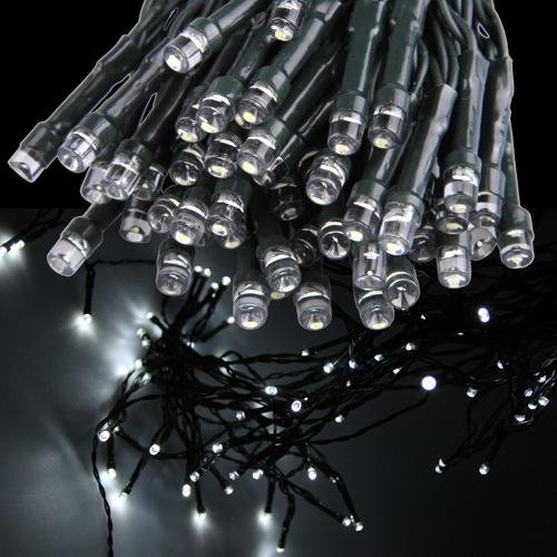 100 led weisslicht streifen lampe solar lichterketten fuer garten 17 m gy ebay. Black Bedroom Furniture Sets. Home Design Ideas