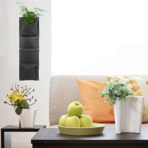 ... about Wall-mounted Polyester Living Indoor Wall Planter Black SA