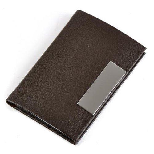 brown business name card holder case organizer ebay