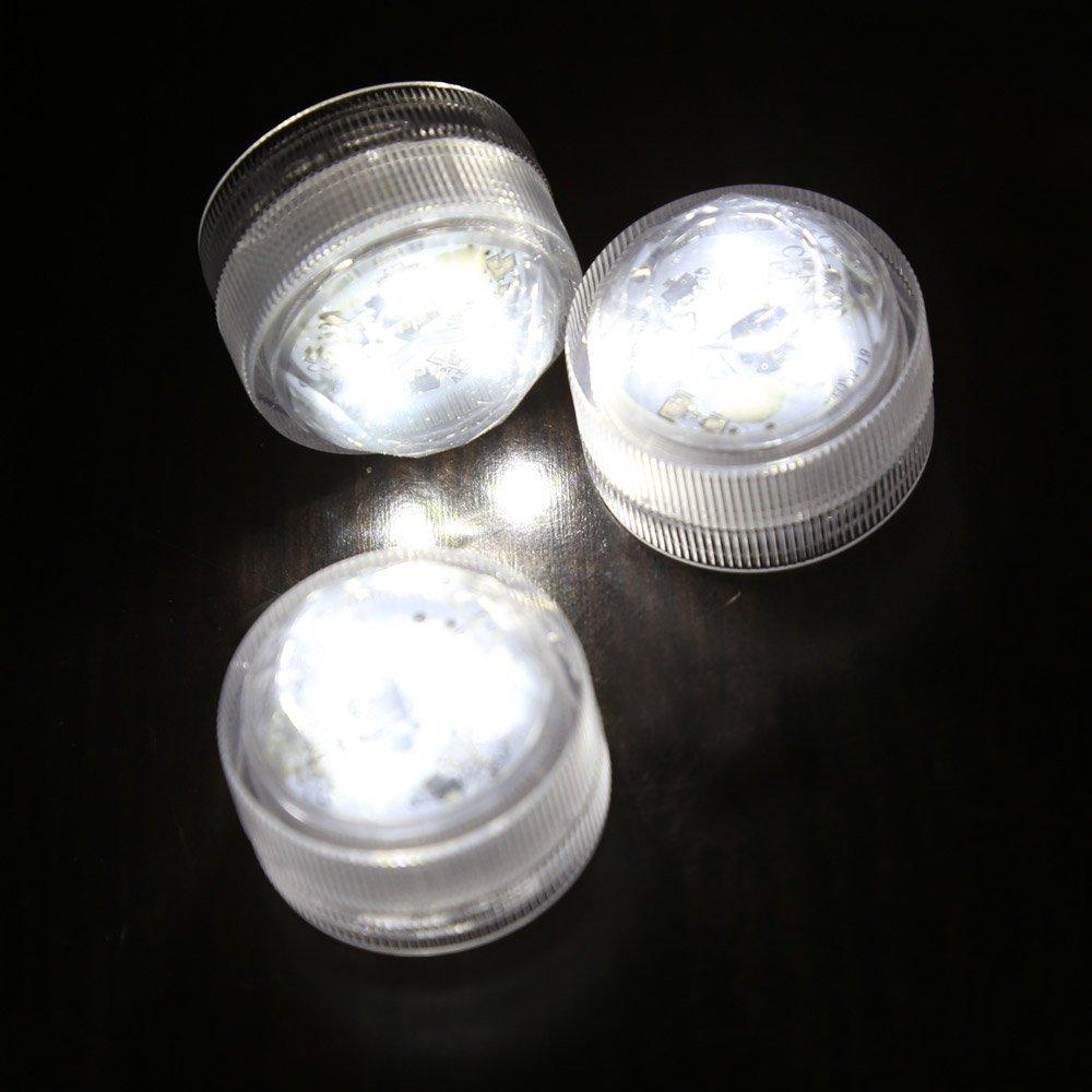 12pcs impermeable rondes lumieres de bougie 3 led 3528. Black Bedroom Furniture Sets. Home Design Ideas