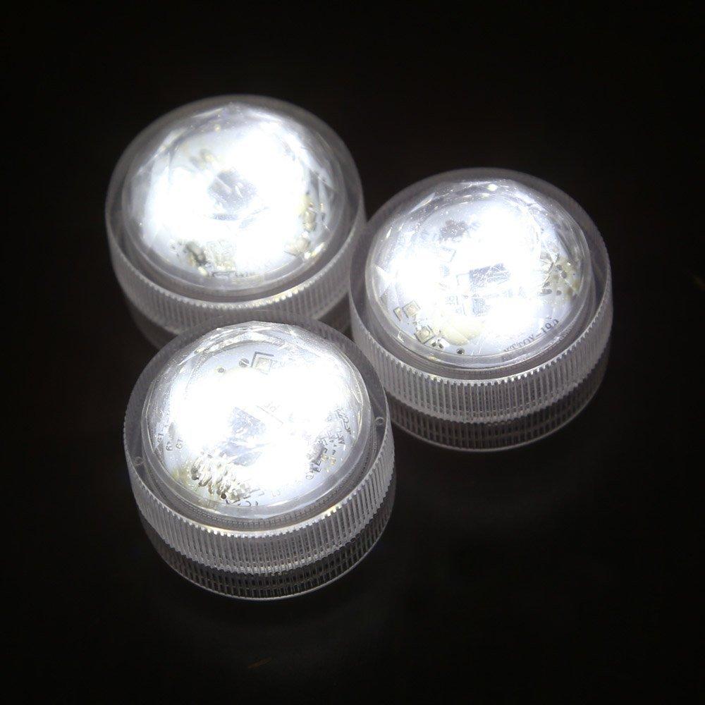 12pcs impermeable rondes lumieres de bougie 3 led 3528 lampe avec rc blanc wt ebay. Black Bedroom Furniture Sets. Home Design Ideas