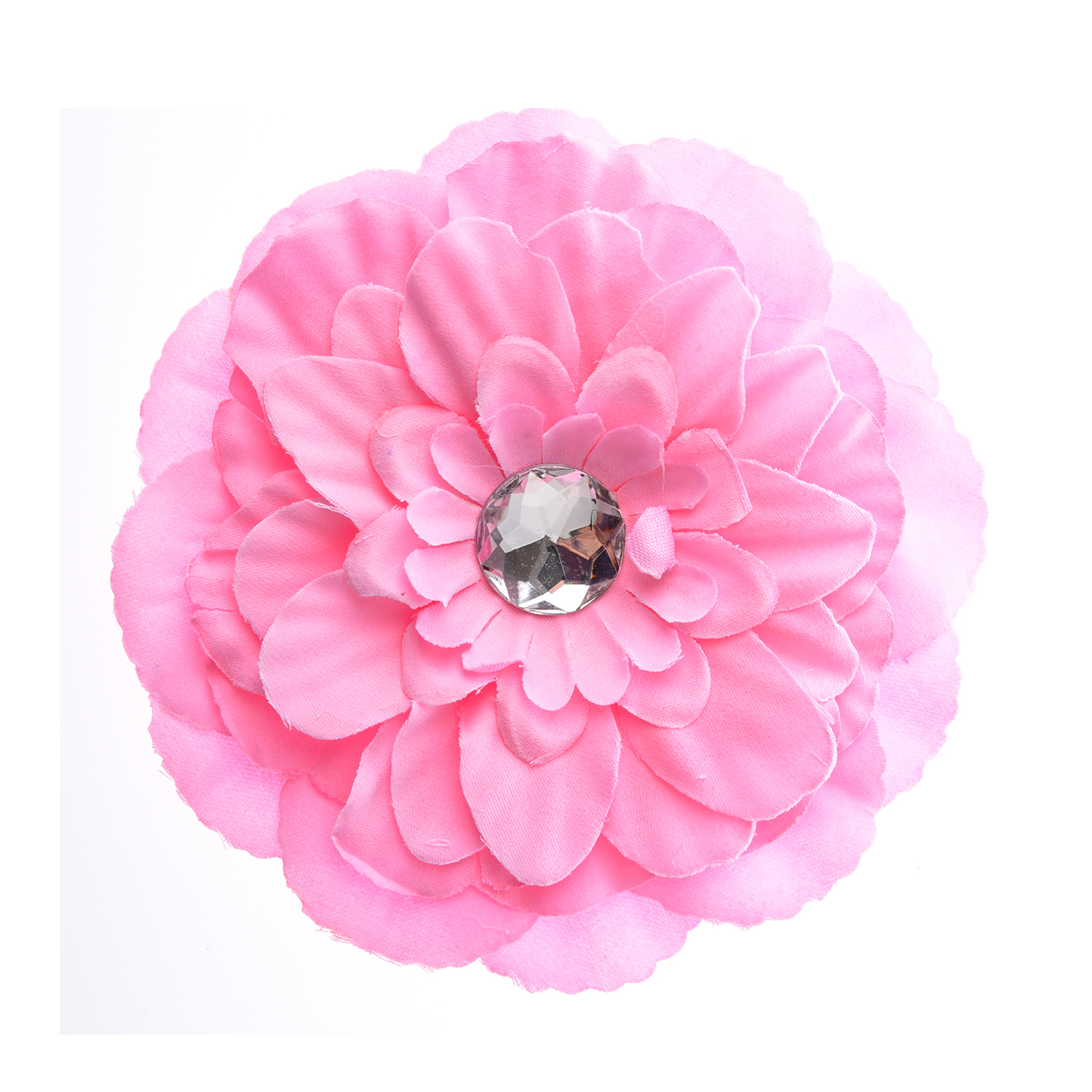 5X Rhinestone Peony Flower Hair Clip for Baby Toddler Lady - Pink W2N9