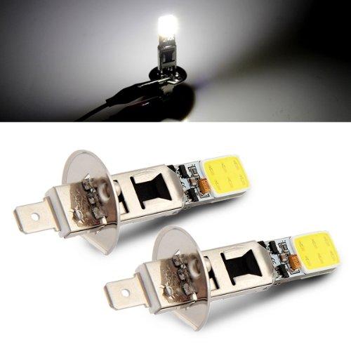 2 x 6w auto led lampe h1 2 cob birne lampe weisses licht dc 12v gy. Black Bedroom Furniture Sets. Home Design Ideas