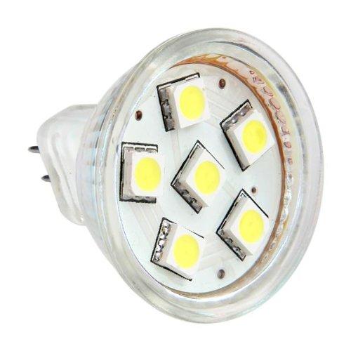 gu4 mr11 dc 12v 6 smd 5050 led light bulb 6000k white t1. Black Bedroom Furniture Sets. Home Design Ideas