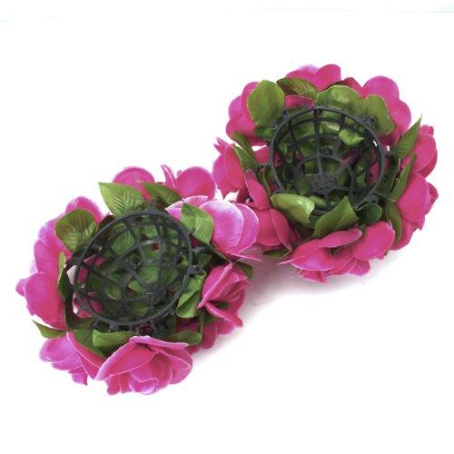 2x s2 kuenstliche blumen rose ball startseite fuer. Black Bedroom Furniture Sets. Home Design Ideas