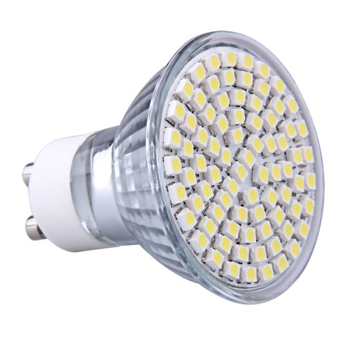 gu10 pure white 80 smd led spot light bulb lamp spotlight. Black Bedroom Furniture Sets. Home Design Ideas