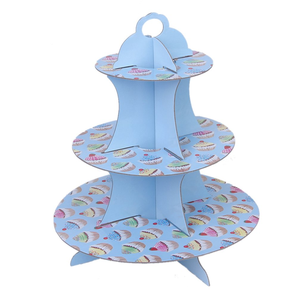 Decor Cake Holder : 3 tier cake muffin cake stand holder Paper Birthday Party Wedding Decor SH eBay