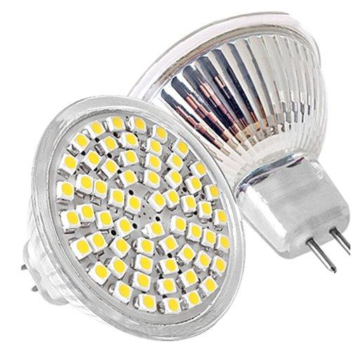 mr16 led 60 smd spot lampe strahler leuchte leuchtmittel warmweiss 12v 2 5w gy ebay. Black Bedroom Furniture Sets. Home Design Ideas