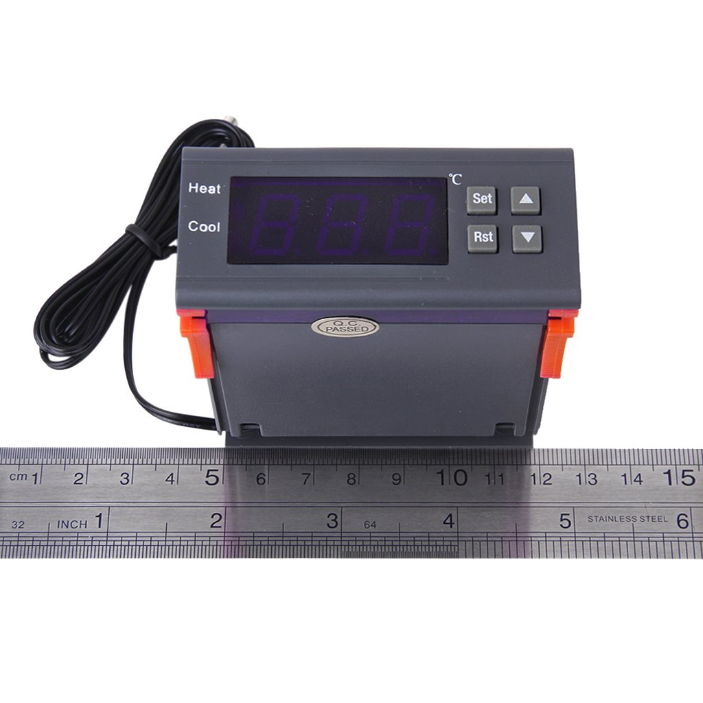 12V Digital LCD Controleur de Temperature Thermostat avec Capteur MH1210A WT 5