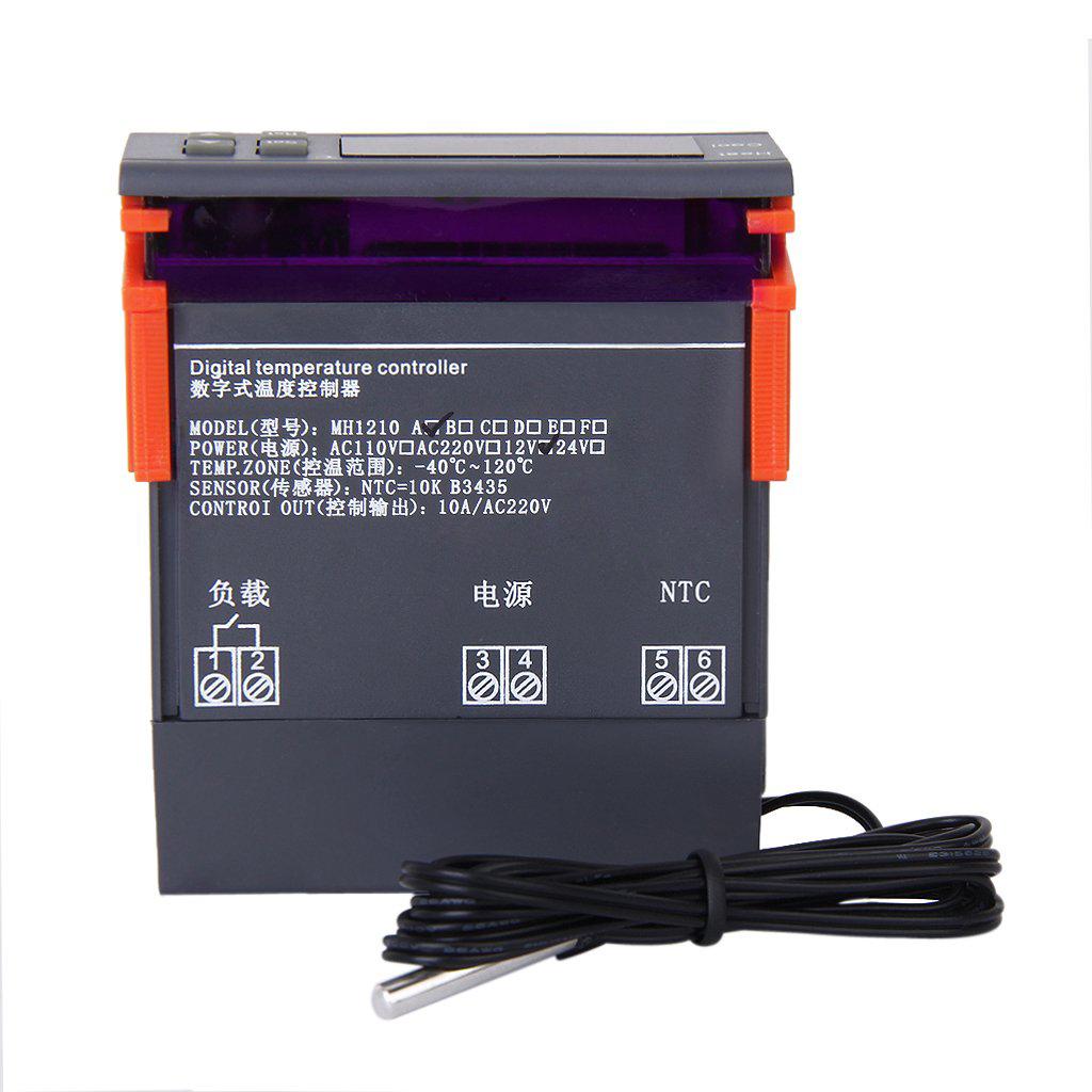 12V Digital LCD Controleur de Temperature Thermostat avec Capteur MH1210A WT