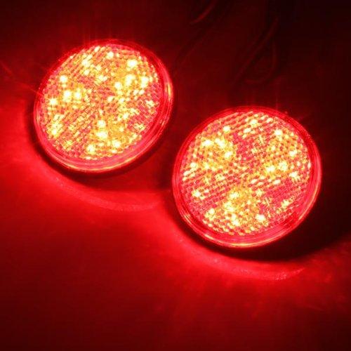 2x led lampe feu frein arriere lumiere rouge 12v rond voiture wt ebay. Black Bedroom Furniture Sets. Home Design Ideas