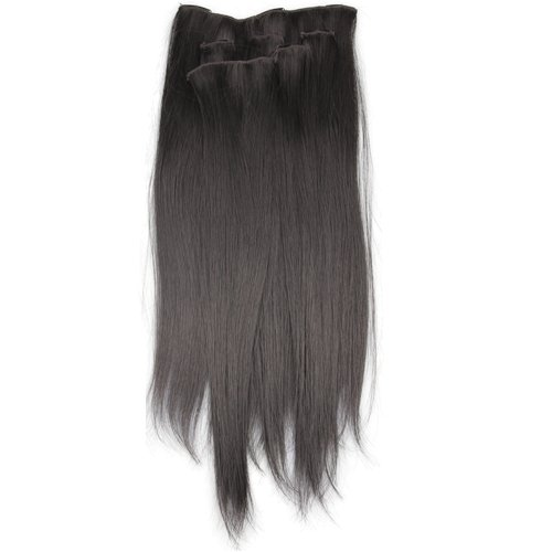 6 pieces black straight clip in hair weft extensions ym ebay