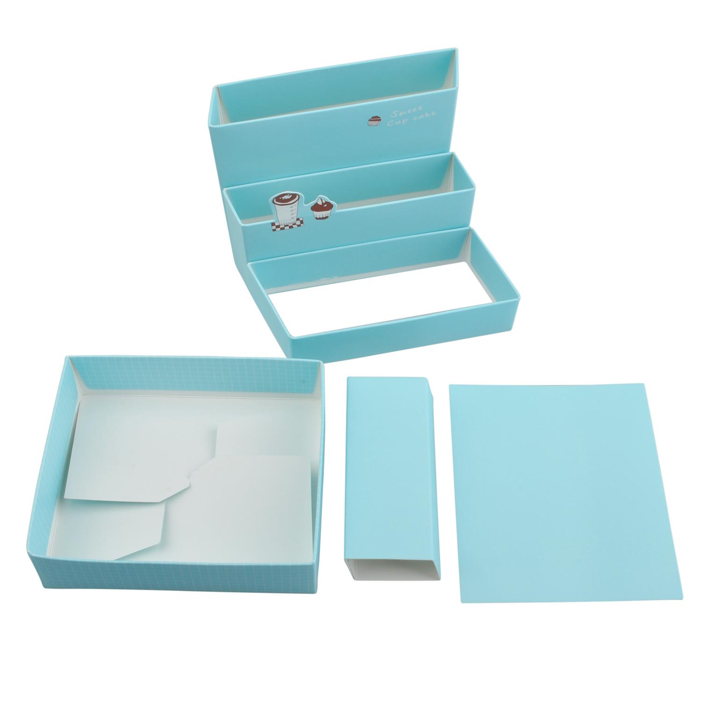Diy paper board storage box desk organizer stationery - Paper organizer for desk ...