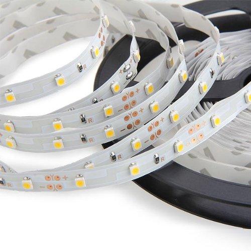 Bobina striscia adesiva 300 led smd bianco caldo 5mt hk ebay for Striscia led adesiva