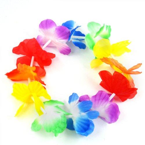Kok Graa Vaggar : set Hawaiian Grass Skirt flower Hula Lei Wristband Garland fancy