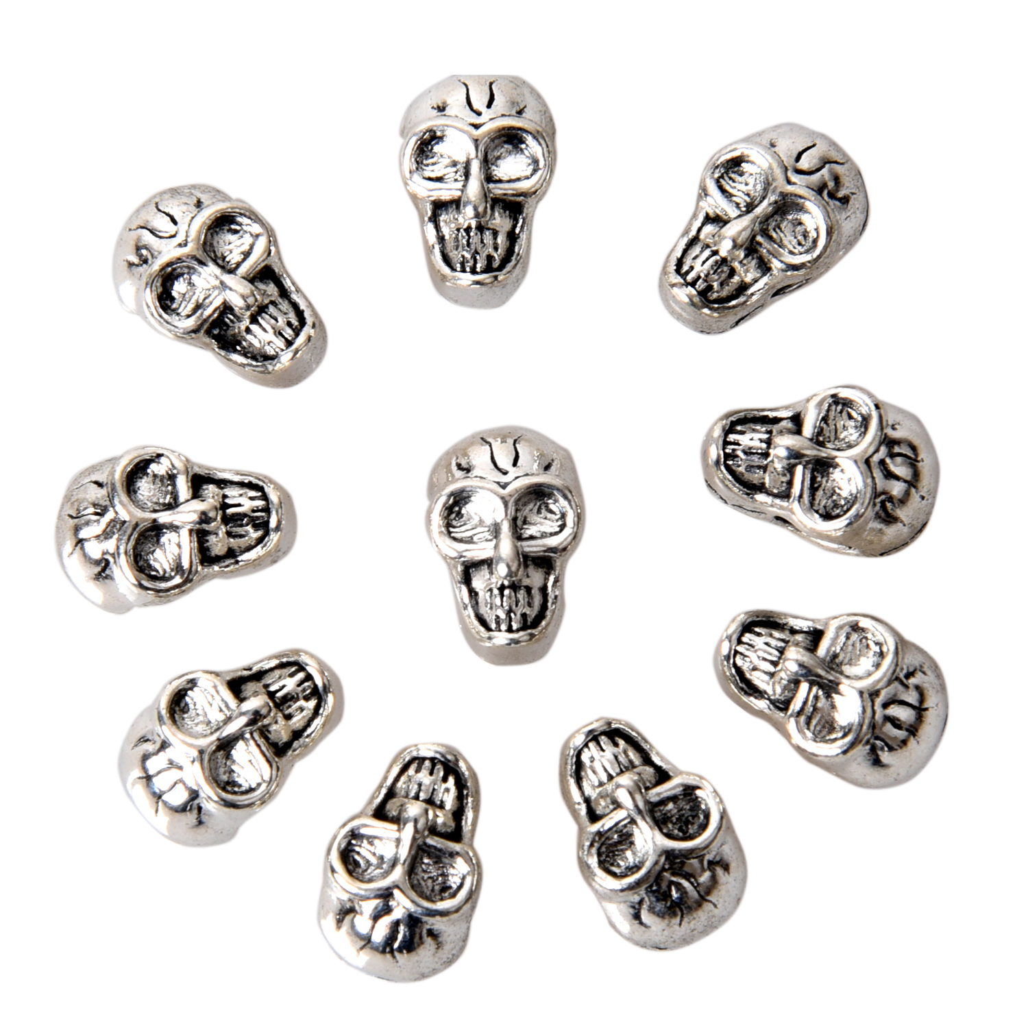 10pcs Antique Silver Charms Phoenix Alloy Bookmark Jewelry Making Beading