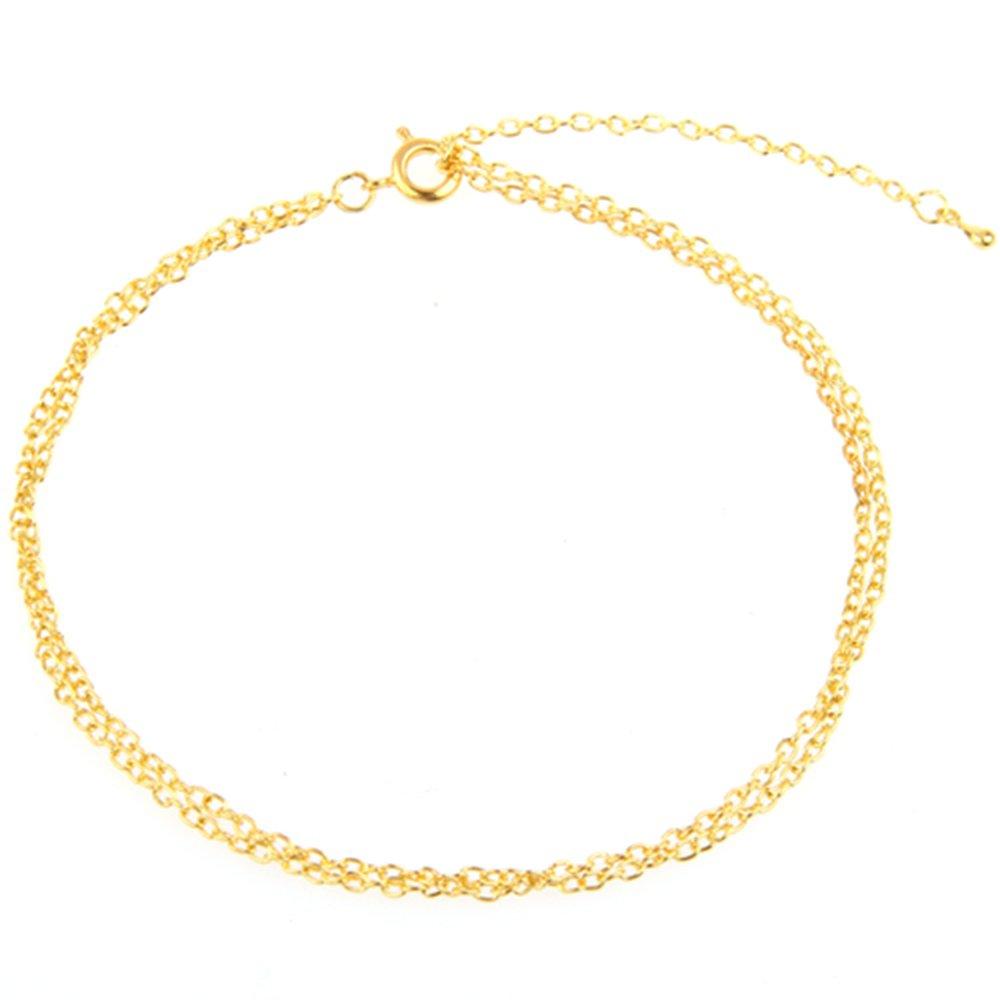 p2fr503 chaine bracelet de pied cheville couleur or femme 2mm ebay. Black Bedroom Furniture Sets. Home Design Ideas