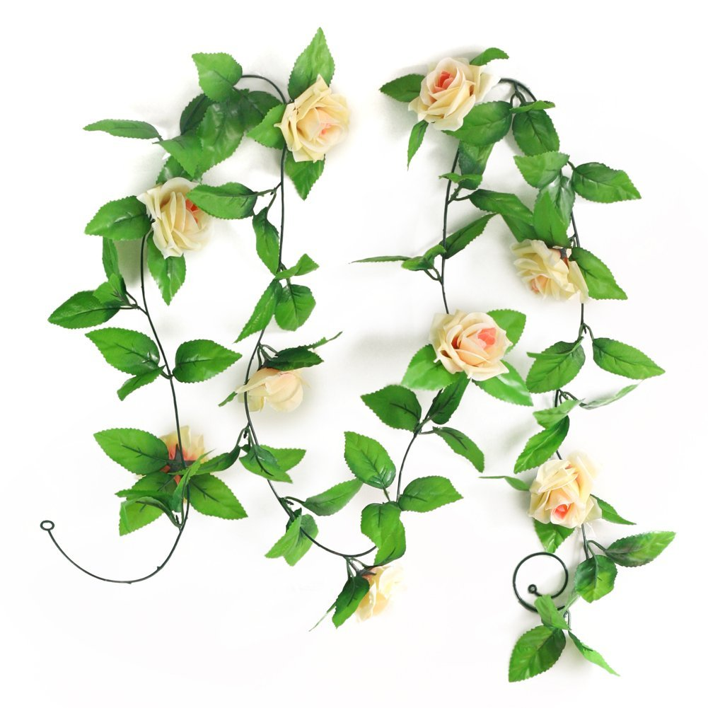 Artificial rose garland silk flower vine for decoration for Artificial flower for decoration
