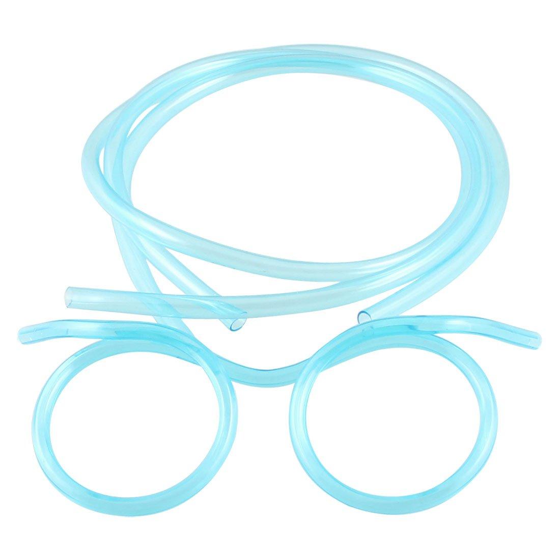 clear blue plastic straw glasses eyeglasses for