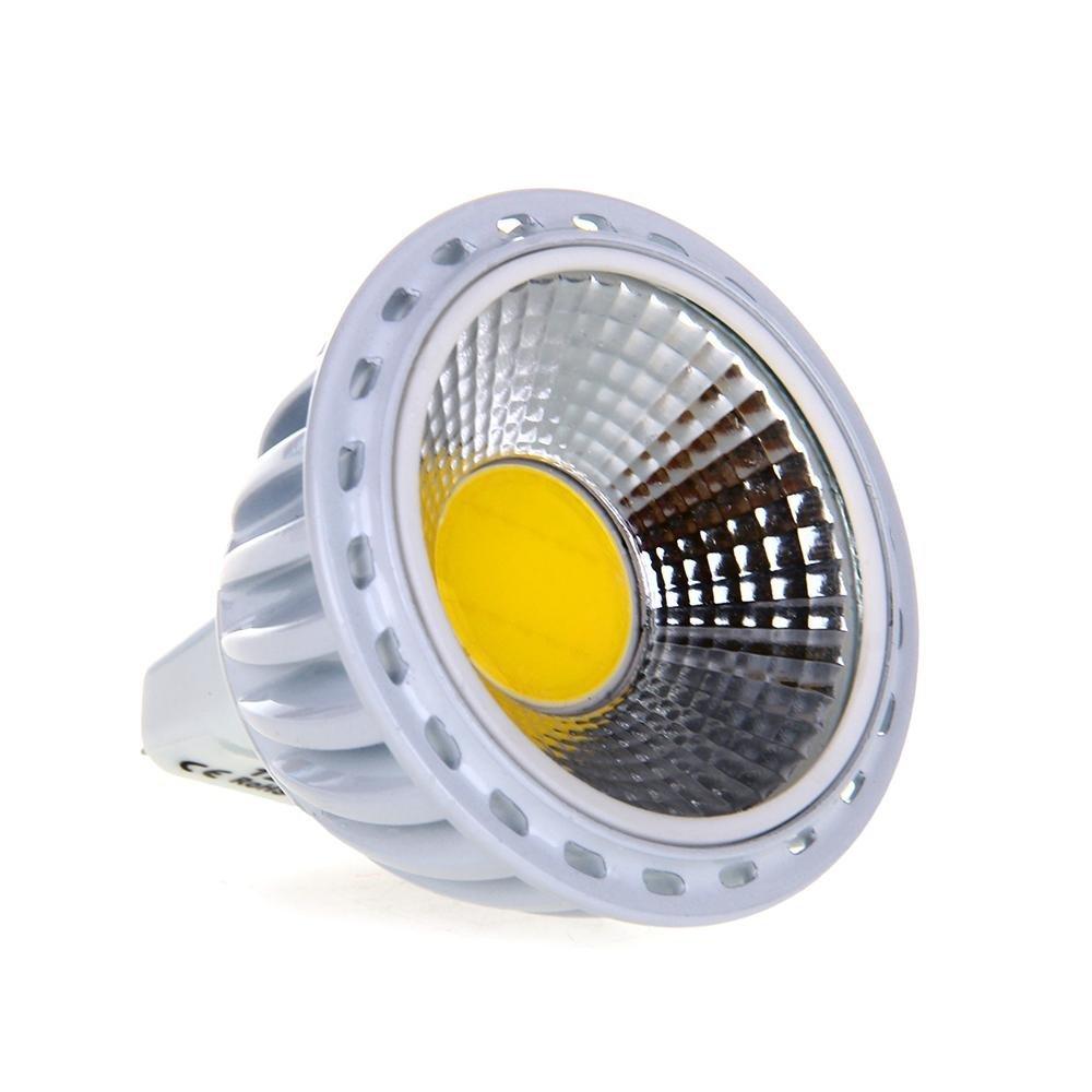 gu5 3 mr16 6w cob led lamp spot light bulb 420lm 60 3000k. Black Bedroom Furniture Sets. Home Design Ideas