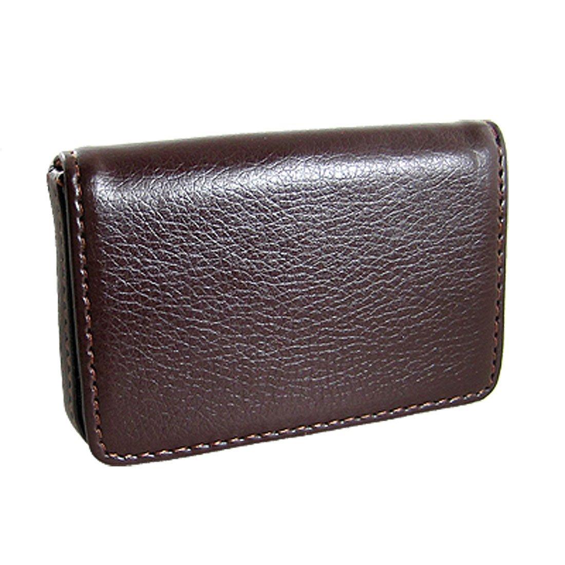 H1 magnetic flip leather business credit card case holder for Business cards holder case