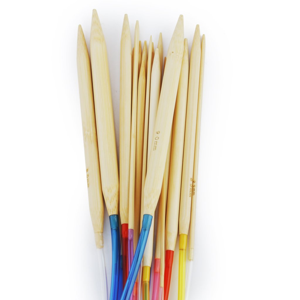 Circular Knitting Needles : Details about Circular Bamboo Knitting Needles Set with Colored Tube 2 ...