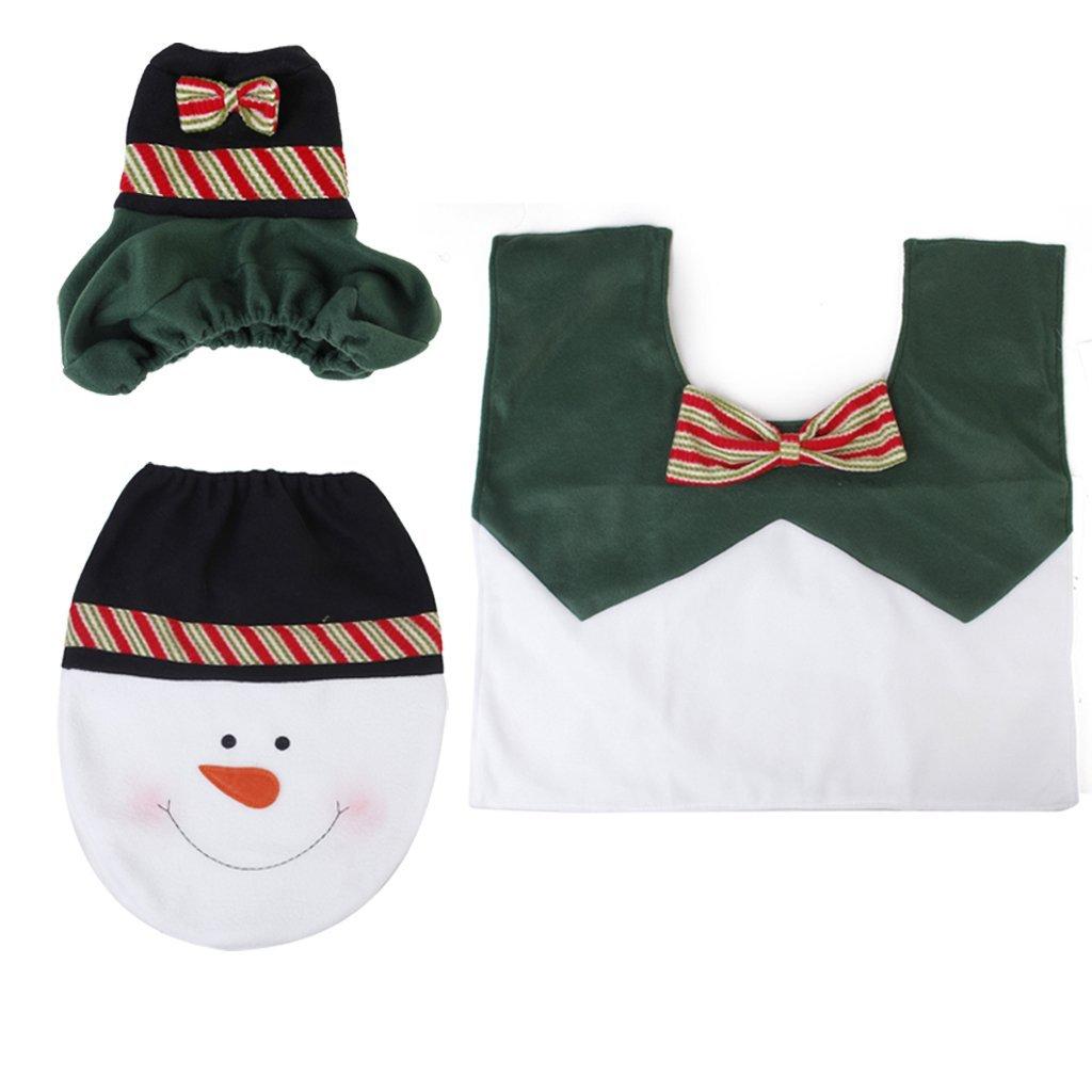 3 pcs un conjunto de accesorios para ba o inodoro alfombra for Conjunto de accesorios de bano