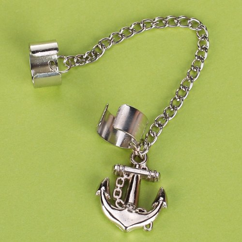 2x ear cuff anker anchor ohrklemme ohrschmuck ohrringe ear. Black Bedroom Furniture Sets. Home Design Ideas